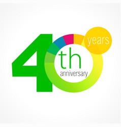 40 anniversary chart logo vector image