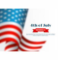 4th of july - independence day of america holiday vector image