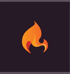 abstract flame design element stylized fire icon vector image