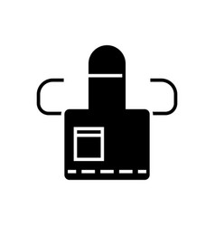 apron icon black sign on vector image