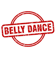Belly dance stamp belly dance round vintage vector