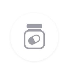 Bottle of pills icon vector