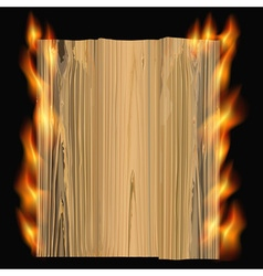 Burning wood vector