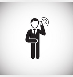 businessman making a call on white background vector image