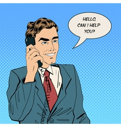 businessman speaking on phone at office vector image