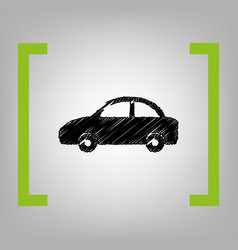 car sign black scribble icon vector image