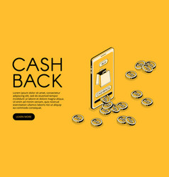 cashback shopping isometric vector image