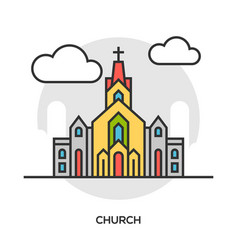 Church icon chapel building concept vector