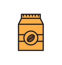 coffee bag flat icon sign symbol vector image