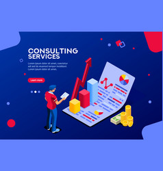 consult infographic isometric vector image
