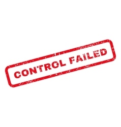 Control Failed Text Rubber Stamp vector image