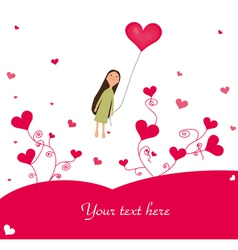 cute valentines background vector image