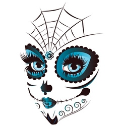 Day of Dead Girl Face vector
