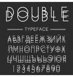 Double typeface font made by doublescript modern vector image