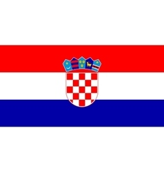 Flag of Croatia in correct size and colors vector