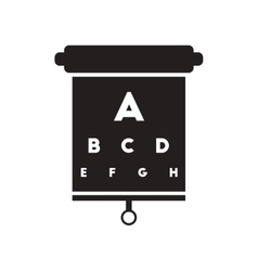flat icon in black and white style eyesight check vector image
