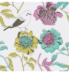 floral art print vector image