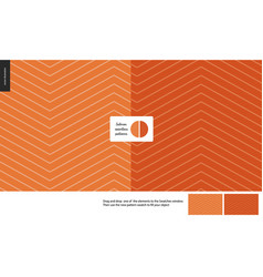 Food patterns salmon vector