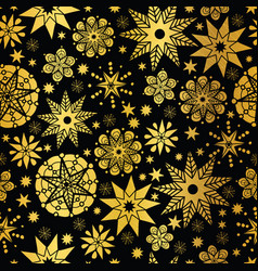 gold black abstract doodle stars seamless vector image