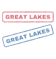Great lakes textile stamps vector