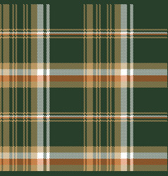 green pixel plaid fabric seamless pattern vector image