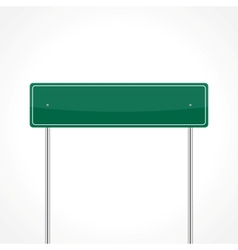 Green traffic sign vector image