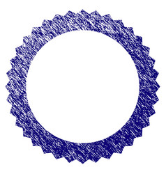 grunge textured rosette seal frame vector image