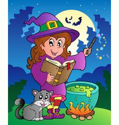 Halloween character scene 3 vector