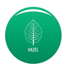Hazel leaf icon green vector