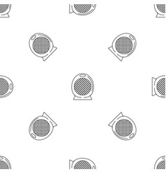 home air heater fan icon outline style vector image