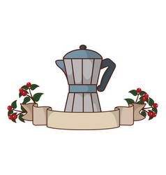 hot drink cartoon vector image