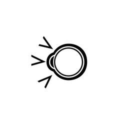human eyeball cataract treatment flat icon vector image