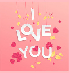 I love you - modern colorful vector