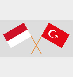 Indonesian and turkish flags vector