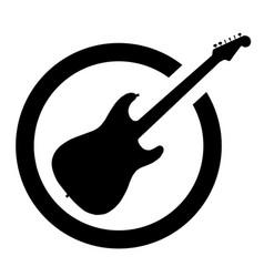 Ink stamp guitar vector