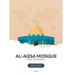 Israel al-aqsa mosque time to travel travel vector
