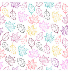 Leaves seamless outline color vector