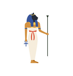 maat the goddess of justice of ancient egypt vector image