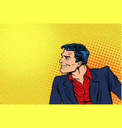 man in red shirt and suit vector image