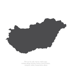 map hungary isolated black vector image