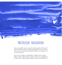 marina navy blue indigo watercolor texture vector image