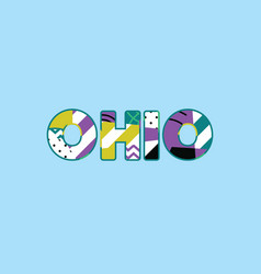 ohio concept word art vector image