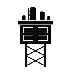 Oil platform black simple icon vector image