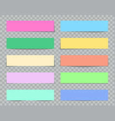paper with shadow color boxes for web banners vector image