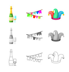 Party and birthday sign vector