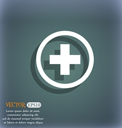 Plus sign icon Positive symbol Zoom in On the vector image