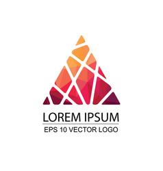 pyramid triangle top pick modern logo design vector image
