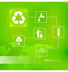 Recycle background vector