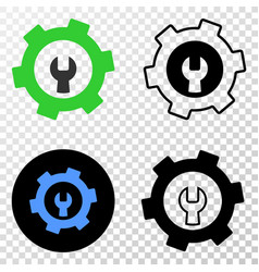 repair gear eps icon with contour version vector image