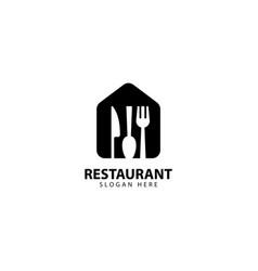 Restaurant logo design symbol icon vector